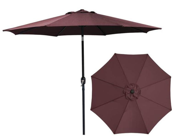 Seasonal Trends 62103 Market Umbrella, Burgundy, 9'