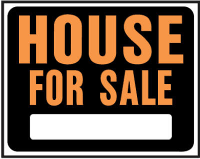 "Hy-Ko SP-103 Plastic House For Sale Sign, 15"" x 19"", Orange/Black"