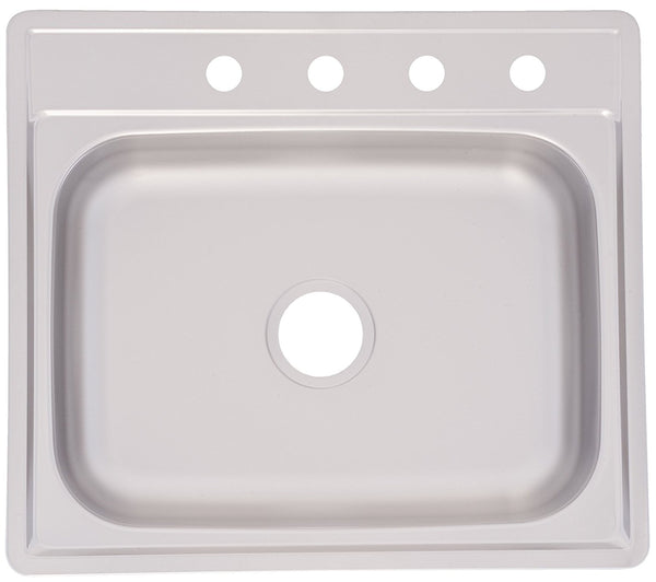 "Franke FSS604NB Kitchen Sink, 25"" x 22"" x 6"", Stainless Steel, Satin"