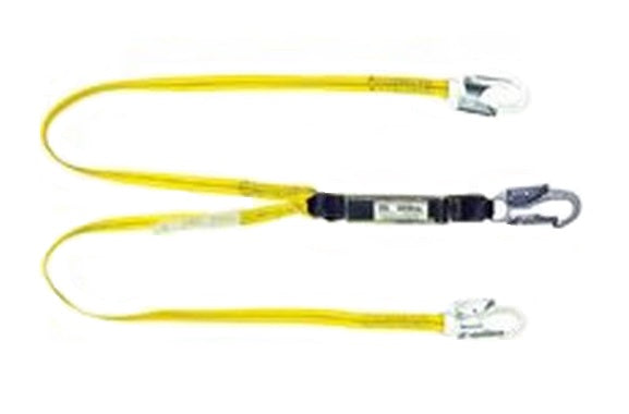 Qual-Craft 01230 Twin Leg Shock Absorbing Lanyards, 6'
