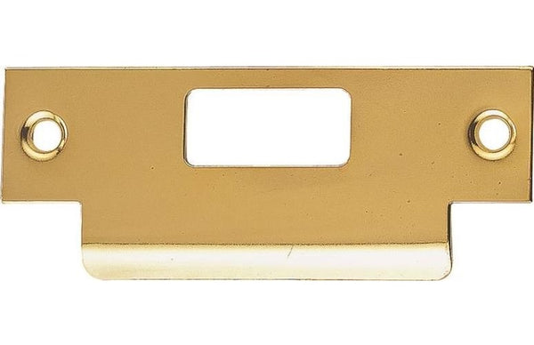 Prosource HSH-006-PS Large Lip Latch Strikes, Brass, 4-7/8""