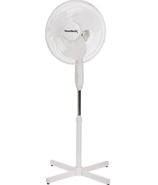 PowerZone FS-40E Oscillating Floor Fan with 3-Speeds, 16""