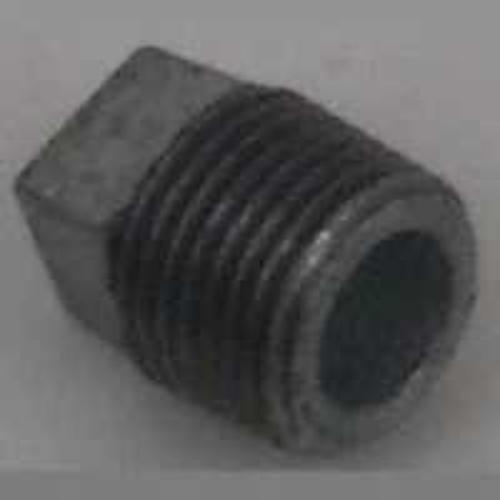 "Worldwide Sourcing 31-1/8G 1/8"" Galvanized Malleable Screwed Plug"