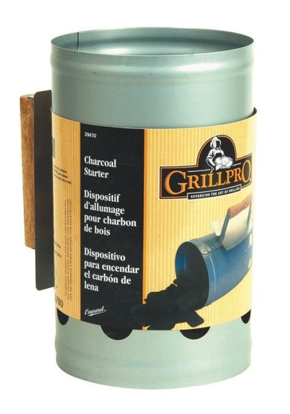 GrillPro 39480 Heavy Duty Chimney Style Charcoal Starter