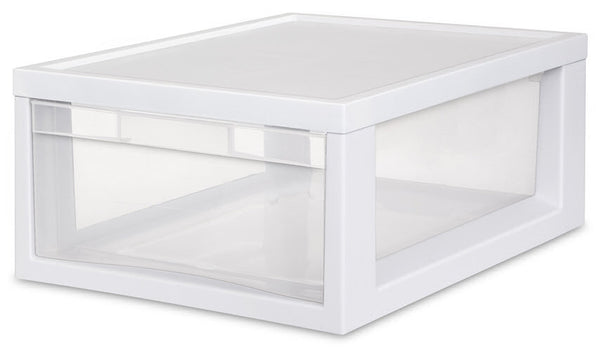 Sterilite 23608006 Medium Modular Drawer with White Frame