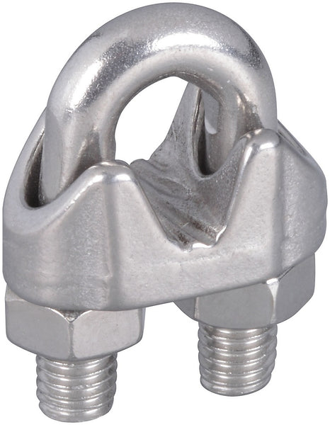 National Hardware N830-314 Wire Cable Clamp, Stainless Steel, 1/4""