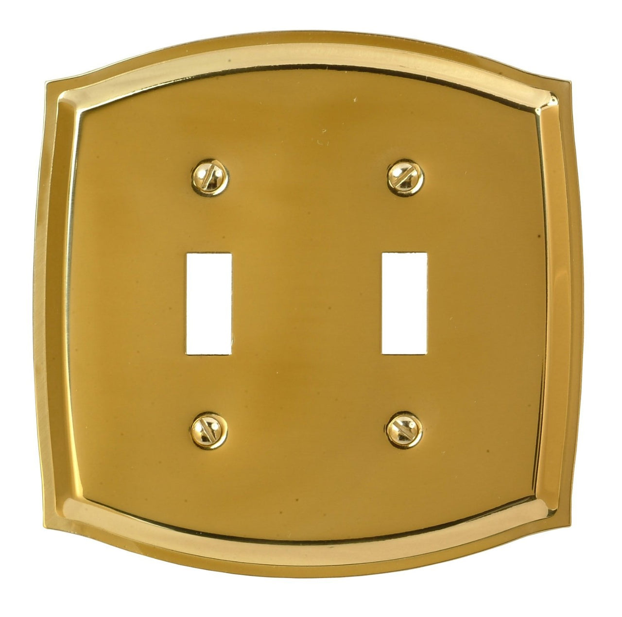 Amertac 76TTBR Sonoma 2 Toggle Wallplate, Polished Brass