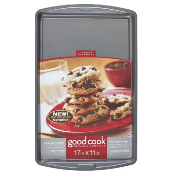 "Good Cook 04022 Non-stick Cookie Sheet, Large, 17"" X 11"""