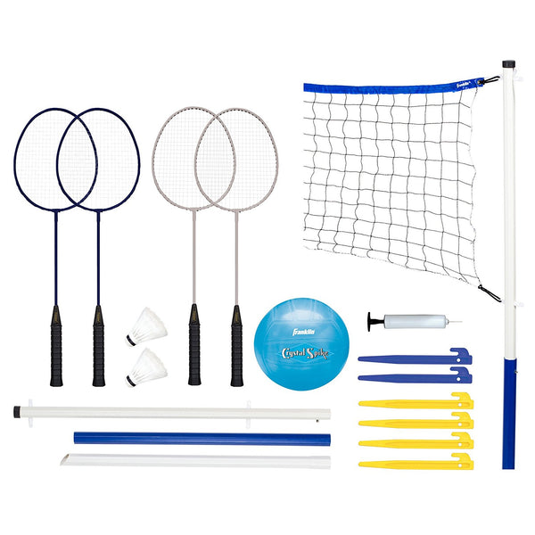 Franklin 50600 Advanced Volleyball & Badminton Combo Set