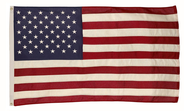 Valley Forge USB3 Grommeted Cotton United States Flag, 3' x 5'