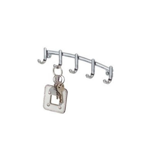 InterDesign 54370 York Lyra Wall Mount Key Rack, Chrome