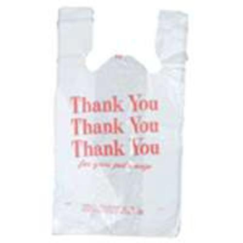 "R3 8023997 Quickmate Flat T-Shirt Bag Thank You, 12"" x 7"" x 18.6"""