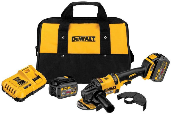 DeWalt DCG414T2 Flexvolt Grinder 2 Battery Kit, 60 V Max