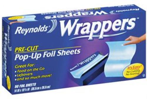 Reynolds 00103 Wrappers Foil Sheets, 50 Count
