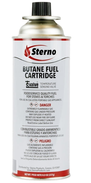 Sterno 50190 Butane Cooking Fuel Cartridge, 8 Oz