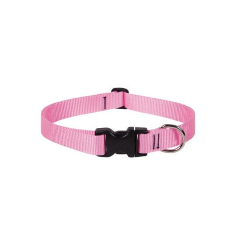 "Lupine 57552 Nylon Dog Collar, 12""-20"" Adjustable, Pink"