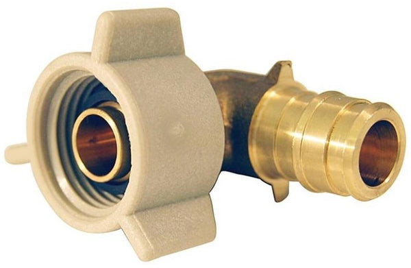 Apollo EPXFE12S Pex-A Female Swivel Elbow, Brass, 1/2""