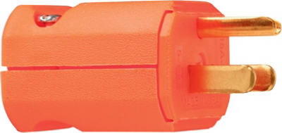 Pass & Seymour Premium Hi-Vis Plug, 15A, 125V, Orange
