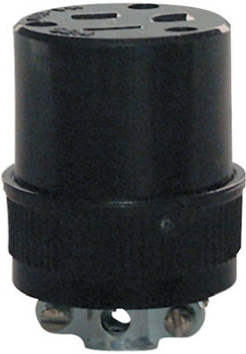 Pass & Seymour Residential Grade Connector, 15A, 125V, Black