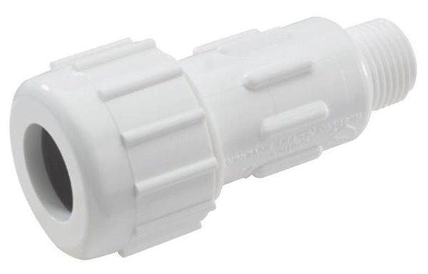 King Brothers CPA-0500 PVC Compression Male Adapters, 1/2""