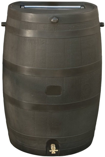 RTS Home Accents 55100009005600 Rain Water Collection Barrel, 50 Gallon
