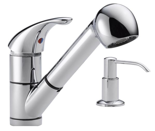 Peerless P18550LF-SD Single Handle Kitchen Pull-Out Faucet