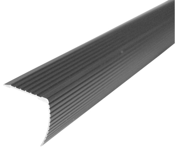 "M-D Building 43310 Fluted Stair Edge, Metallic, 1.125"" H x 1.22"" W x 36"" D"