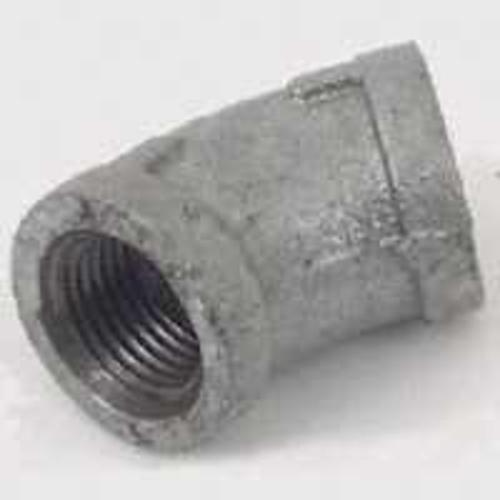 Worldwide Sourcing 4-1-1/4G Galvanized Malleable 45 Degree Elbow 1-1/4""
