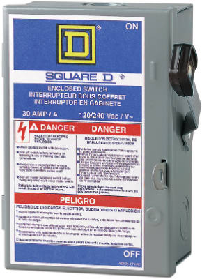 Light Duty Safety Switch 30Amp