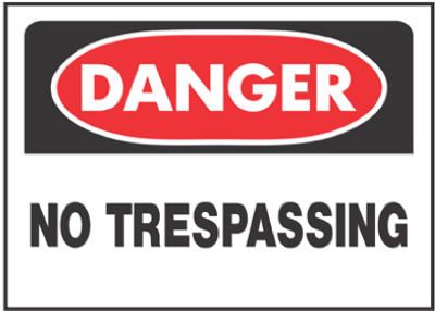 "Hy-Ko 514 Danger No Trespassing Sign, 10"" x 14"""