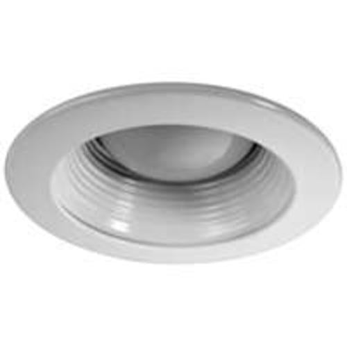 "Power Zone TRIM201-WH (MTM1) Baffle Recessed Light Fixture Trim, 4"", White"