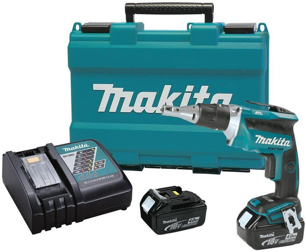 Makita XSF03MB Lithium-Ion Brushless Cordless Drywall Screwdriver Kit, 18 Volt