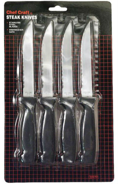 Chef Craft 20979 Steak Knive Set, 4 Piece