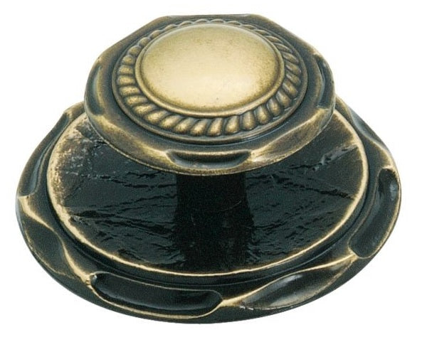 Amerock BP778AE Knob With Backplate, Antique English