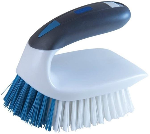 Lysol 59202 2-in-1 Iron Handle Brush, Dual bristles