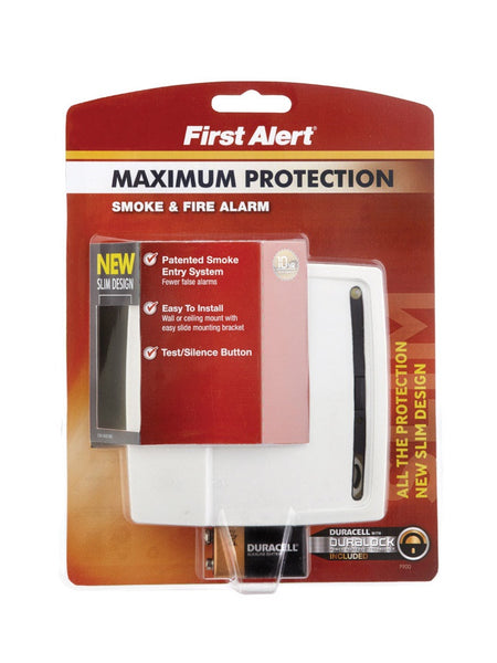 First Alert P900 Photoelectric Smoke Alarm, 9 Volt