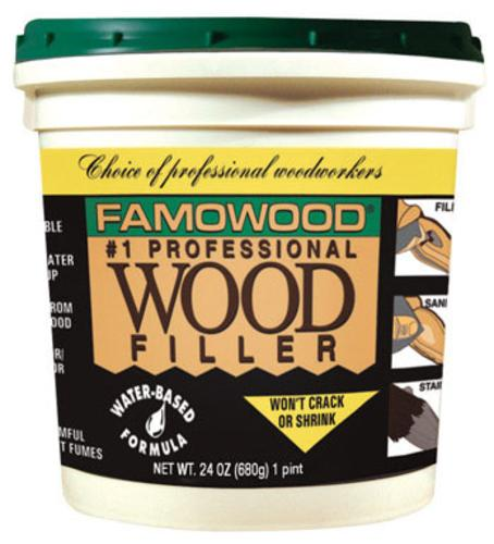 Famowood 40022134 Water Based Wood Filler,1 Pint, Red Oak