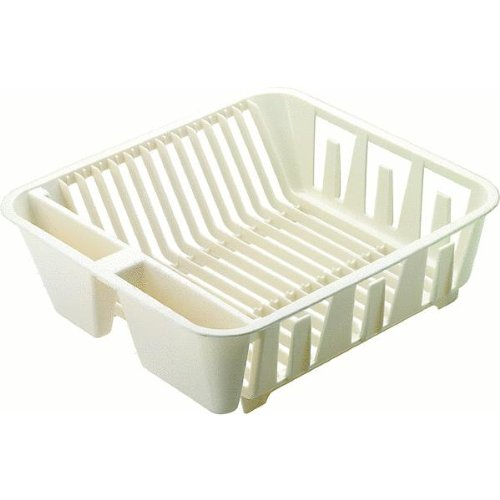 Rubbermaid 6049-AR BISQU Twin Sink Dish Drainer, Small