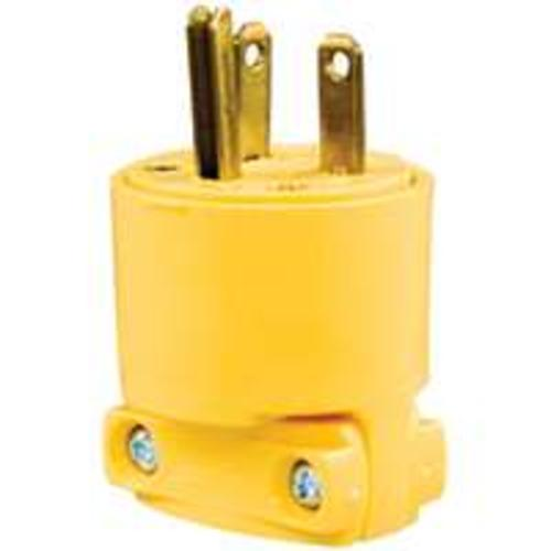 Cooper Wiring 4409-BOX 3 Wire Armored Plug, Yellow