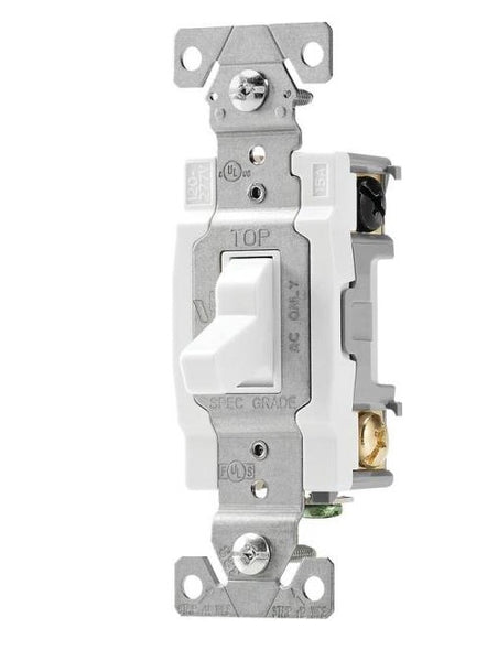Cooper Wiring CSB415W  Ac Quiet Toggle Switches, White, 15 Amp