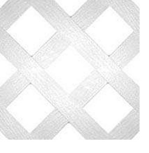 Universal Forest 79904 Diamond Lattice, White, 2' x 8'