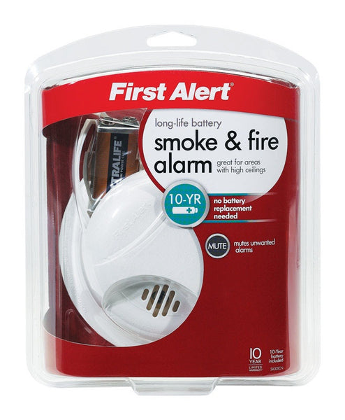 First Alert SA305CN3 Wireless Battery Operated Smoke Alarm, 9 V