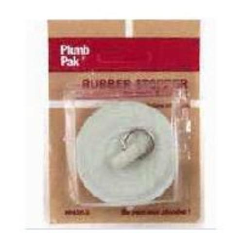 Plumb Pak PP820-1 Rubber Drain Stopper Duo Fit, White