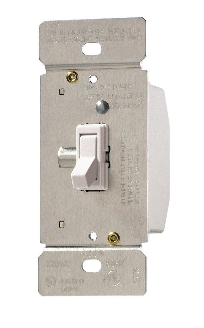 Cooper Wiring TI061-W-K Incandescent Toggle Dimmer, White