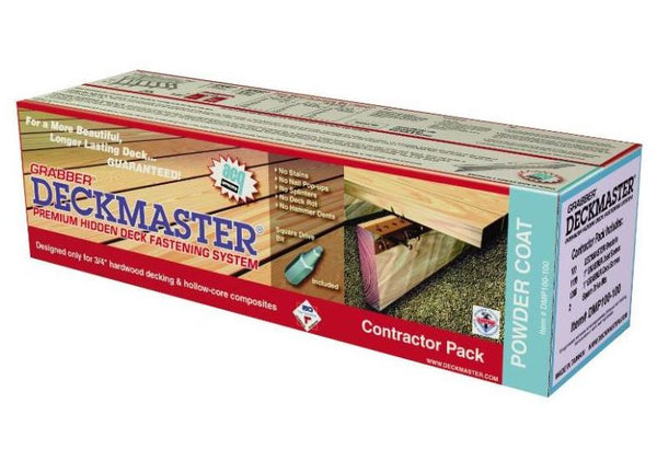 Deckmaster DMP100-100 Galvanized Powder Coated Hidden Deckbracket Kit
