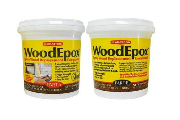 Abatron WE2PKR WoodEpox Wood Replacement Compound 2-Part Kit, 2-Pint