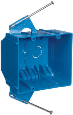 "Carlon 2-Gang New Work Switch & Outlet Box 3-3/4"" x 4"" x 3"", 32 CUIN"