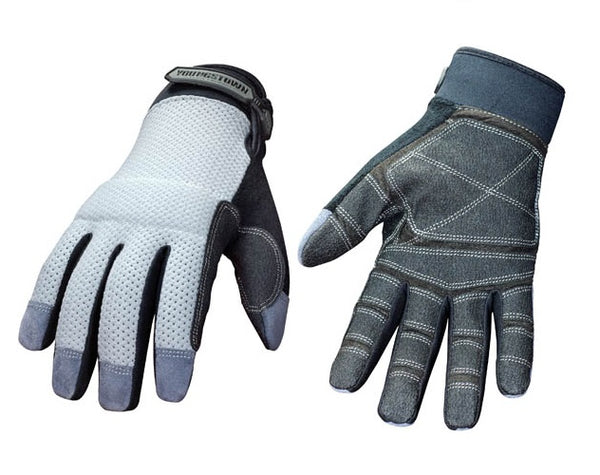 Youngstown 04-3070-70-M Mesh Utility Reinforced Palm Work Gloves, Medium