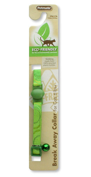 "Aspen Pet 0320108 Adjustable Eco Friendly Pet Collar, 3/8"",Green"