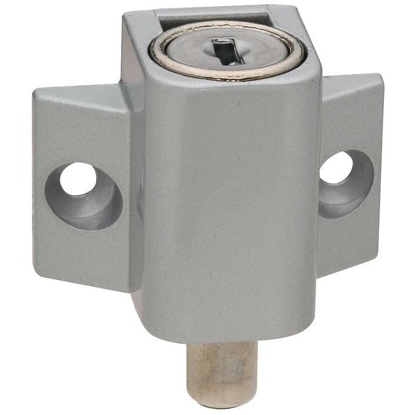 National Hardware N245-969 Keyed Patio Door Lock, Aluminum